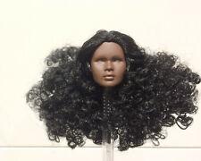 Fashion Royalty Color Infusion black wavy hair Nadja Integrity doll Head