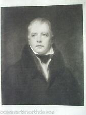 ANTIQUE PRINT 1901 SIR WALTER SCOTT BY SIR HENRY RAEBURN PAINTING ART PORTRAIT