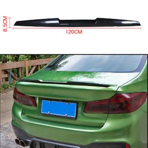 Universal Car SUV Rear Roof Lip Spoiler Tail Trunk Wing Sticker TPU Black 120cm