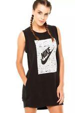 Nike Women's RALLY Black Sleeveless Sweatshirt Fleece DRESS (742109 010) LARGE