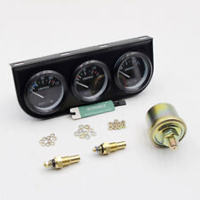 "2""/52mm Triple Gauge Kit 3in1 Water Temp Oil Temperature Oil Pressure Car Meter"