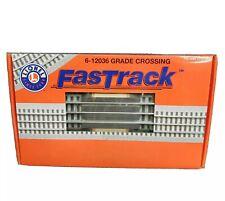 LIONEL 6-12036 (2) GRADE CROSSING FasTrack NEW OPEN BOX