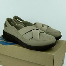 Cloudsteppers Clarks SILLIAN 2.O STAR Comfort Shoes Flats Sz 8.5 SAND NEW w BOX
