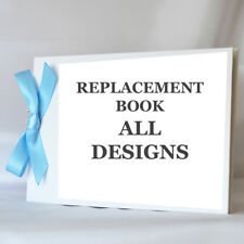 Replacement Personalised Linen Spiral Bound Guest Book