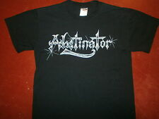 vtg ABSTINATOR T SHIRT Band Concert Metal Logo No Se Puede Tocar You Can't Touch