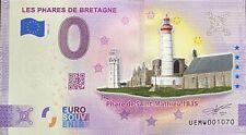 BILLET 0  EURO PHARES DE BRETAGNE  SAINT MATHIEU COULEUR  2021  NUMERO DIVERS