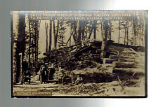 Mint WW 1 US Army Soldiers RPPC Postcard Massive Log Bunker in France