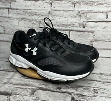 Under Armour Size 12 E Mens Sneakers Black White Wide Athletic Shoes