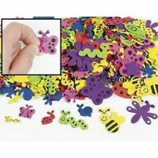 500 Assorted Bug Shape Foam Self Adhesive Craft Stickers Art Supplies