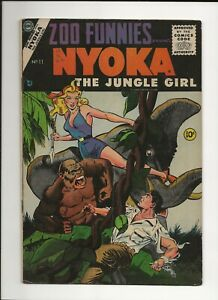 ZOO FUNNIES #11 1955 CHARLTON GOLDEN AGE JUNGLE NYOKA THE JUNGLE GIRL VG