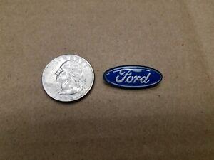 "Ford OEM Blue & Chrome 1"" Horn Button Steering Wheel Emblem Badge Logo Name"