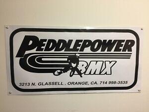 old school peddle power  bmx BANNER 4ft X 2ft vdc hutch gt se racing