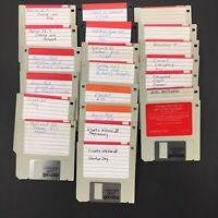 LOT of 21 Vintage 3.5 Floppy Disks - Apple Computer II IIe IIc IIGS Computers