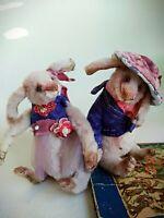 Teddy Rabbit Carol OOAK Artist Teddy by Voitenko Svitlana