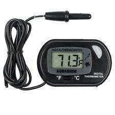 LCD Digital Thermometer Aquarium Fish Tank Vivarium Water Marine Stick On Probe
