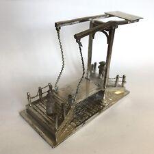 Bell 'antico in argento di lavoro PONTE LEVATOIO bambino giocattolo Olandese 1903 Jan verhoogt