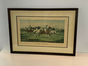 Etching Print After George Wright Polo A Gallop on the Boards