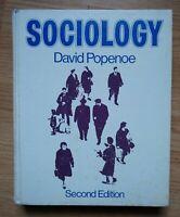 Sociology 1974 By David Popenoe 2nd Edition - Good!