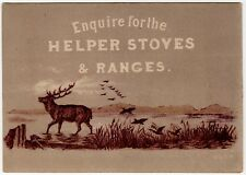 Victorian Trade Card-Helper Stoves and Ranges-Chicago, IL-Large Buck & Ducks