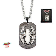 MARVEL COMICS: THE AMAZING SPIDER-MAN SYMBOL DOG TAG PENDANT ON CHAIN NECKLACE