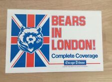 """Chicago Bears In London 11 x 17"""" Vintage Old Newsstand Sign Poster Tribune RARE"""