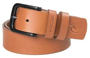 Rip Curl Cut Down Leather Belt - Tan - New