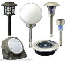 LED Solarleuchte Lampe Leuchte Gartenleuchte Solarlampe Stein Kugel Laterne