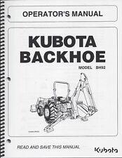 KUBOTA BH92 Backhoe Operator's Owner's Manual 7K505-79915