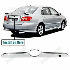 Accessory Chrome Rear Trunk Molding Trim For Toyota Corolla Sedan 2003-2008