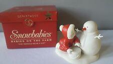 "Dept 56 Snowbabies Babies on the Farm ""You Should Wear A Hat"" Figurine"