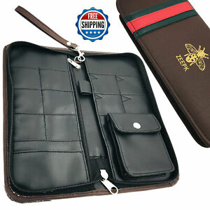 NEW STYLISH SALON BARBER PU LEATHER TRAVELING CASE HOLDER POUCH FOR SHEARS COMBS