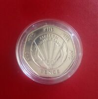 Rare Royal mint 1998 NHS 50th Anniversary 50p fifty pence coin in capsule