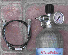 "Tj3 Din300 Slo-Flo Safe Fill Valve w/2Gauges, 40"" Hose; Pcp Airgun & Paintball"