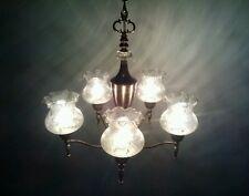 # VINTAGE SILVER PLATED CHANDELIER LIGHT HANGING FIXTURE CEILING SCHONBEK STYLE