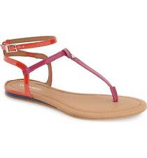 Womens Calvin Klein Haubrey Ankle T-Strap Sandals Pink Fuchsia Orange Size 9 9.5