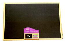 Wooden Frame Felt Board Office Home Pin Fixings Fabric Notice Board - 60 x 40cm