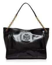 NWT Tory Burch 'Britten' Leather Slouchy Tote Hobo Bag $500+ BLACK 100% AUTHENTC