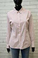 TOMMY HILFIGER Donna Camicia Maglia Camicetta a Righe Blusa Taglia S Shirt Woman