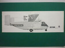 5/1968 PUB SHORT SKYVAN GARRETT TPE-331-201 ENGINES AVION AIRCRAFT ORIGINAL AD