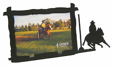 "Pole Bending Rodeo Horse Picture Frame 5""x7"" H"