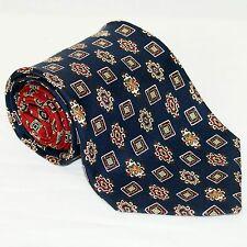 TOMMY HILFIGER Necktie Silk Tie Blue Red Lions  Mens