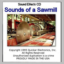 GREAT O SCALE SOUNDS OF A SAWMILL SOUND EFFECTS CD