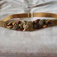Vintage Leather Shop Ladies Braided Belt