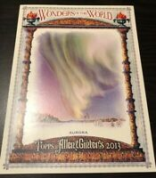 Aurora Borealis RARE 2013 Photo Topps Allen & Ginter WONDERS OF THE WORLD 6x8