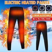 Elettrico riscaldato Uomini Donne Pantaloni Inverno termica Riscaldamento M-3XL