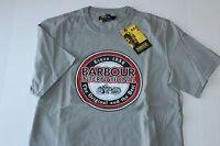 Barbour International Tee Shirt Vintage Biker Smoke Grey New Euro Fit Large L