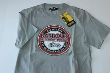 Barbour International Tee Shirt Vintage Biker Smoke Grey New Euro Fit Large L