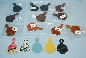 1x Vintage KICKERS Shoe Tags Keyring Leather  Plastic Mixed  Free Post