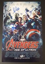 """AVENGERS:Age of Ultron Cast(X4) Authentic Hand-Signed """"Paul Bettany""""11x17 Photo"""