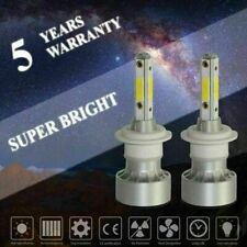 Pair 4 Sides H7 LED Headlight Bulb Conversion Kit Hi/Lo Beam 6000K Head Lamp DRL